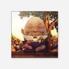 "Humpty Dumpty in Wonderland Square Sticker 3"" x 3"""