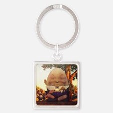 Humpty Dumpty in Wonderland Square Keychain