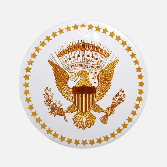 Presidential Seal, The White Hous Ornament (Round)