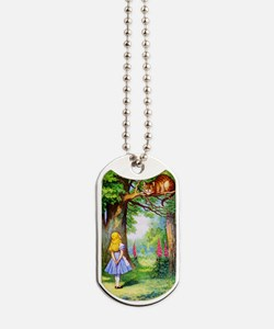 Alice and the Cheshire Cat Dog Tags