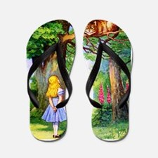 Alice and the Cheshire Cat Flip Flops