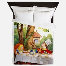 Mad Hatter's Tea Party Queen Duvet