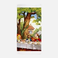Mad Hatter's Tea Party Beach Towel