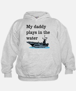DADDY PLAYS IN THE WATER 1 Hoodie