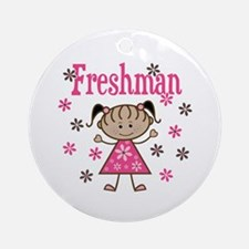 Freshman Girl Ornament (Round)