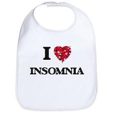 I Love Insomnia Bib