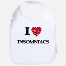I Love Insomniacs Bib