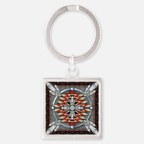 Native American Tapestry 04 Square Keychain