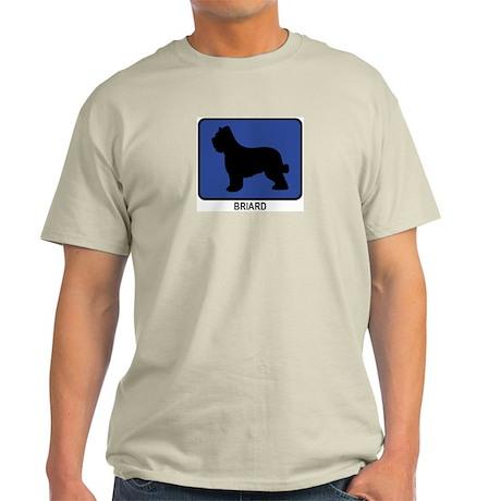 Briard (blue) Light T-Shirt