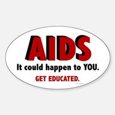 AIDS Oval Decal