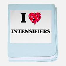 I Love Intensifiers baby blanket