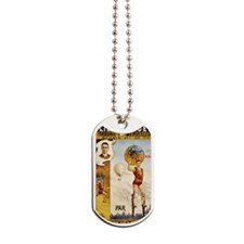 Folies Bergere Fontaine Vintage Poster Dog Tags