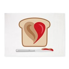 PB & J Sandwich 5'x7'Area Rug