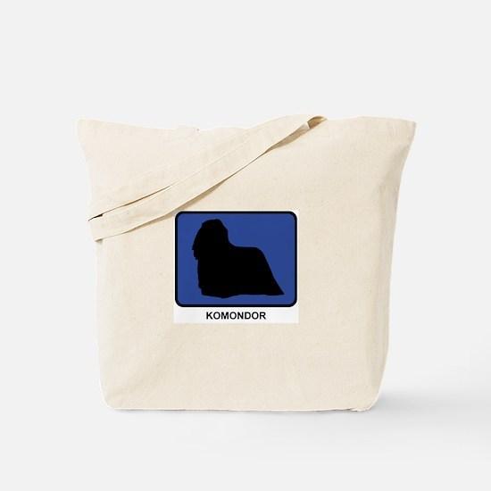 Komondor (blue) Tote Bag