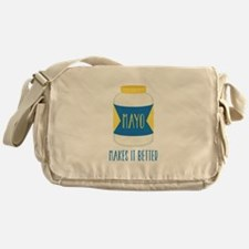 Makes It Better Messenger Bag