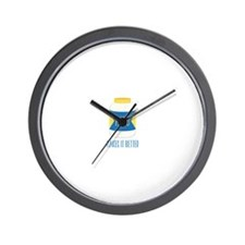 Makes It Better Wall Clock