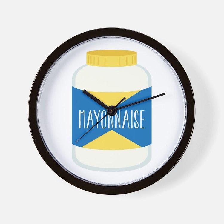 Mayonnaise Wall Clock