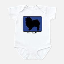 Keeshound (blue) Infant Bodysuit