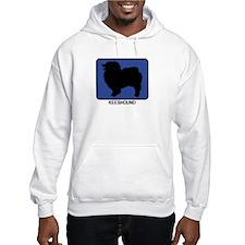 Keeshound (blue) Hoodie