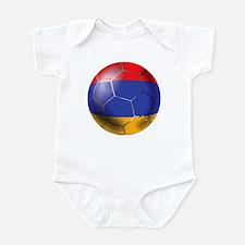 Armenia Soccer Ball Infant Bodysuit