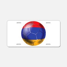 Armenia Soccer Ball Aluminum License Plate