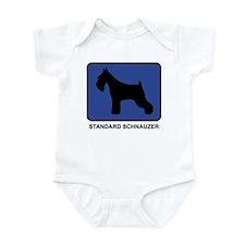 Standard Schnauzer (blue) Infant Bodysuit