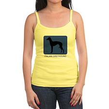 Italian Greyhound (blue) Jr.Spaghetti Strap