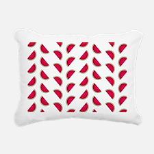 Rows of Watermelon Slice Rectangular Canvas Pillow