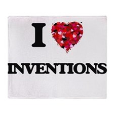 I Love Inventions Throw Blanket
