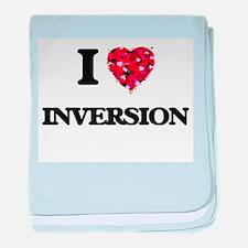 I Love Inversion baby blanket