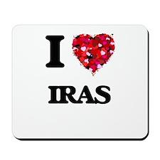I Love Iras Mousepad