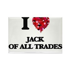 I Love Jack Of All Trades Magnets