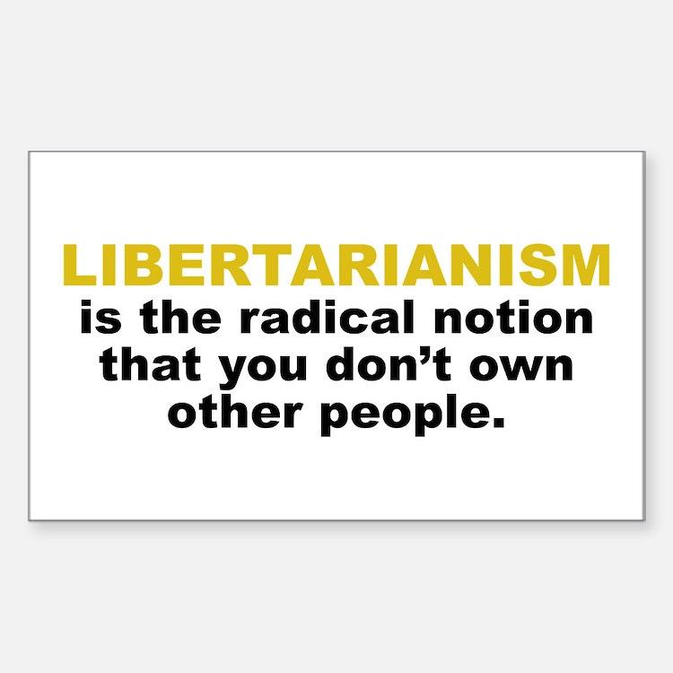 Libertarian Rectangle Decal
