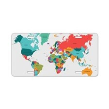 World Map With the Name of The Countries Aluminum