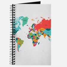 World Map With the Name of The Countries Journal