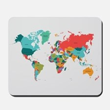 World Map With the Name of The Countries Mousepad