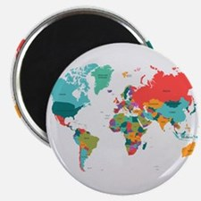 World Map With the Name of The Countries Magnets