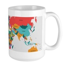 World Map With the Name of The Countries Mugs