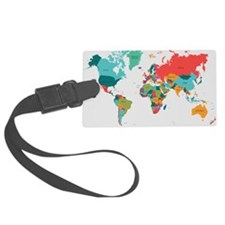 World Map With the Name of The Countries Luggage T