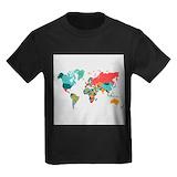 Continents Kids T-shirts (Dark)
