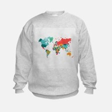 World Map With the Name of The Countries Sweatshir