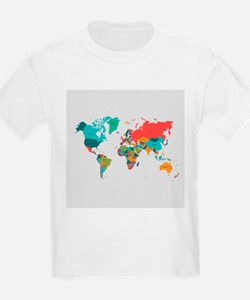 World Map With the Name of The Countries T-Shirt