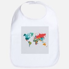 World Map With the Name of The Countries Bib