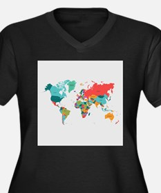 World Map With the Name of The Countries Plus Size