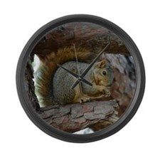 Cute Squirrel Large Wall Clock