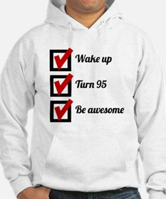 Awesome 95th Birthday Checklist Hoodie