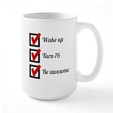 Awesome 76th Birthday Checklist Mugs