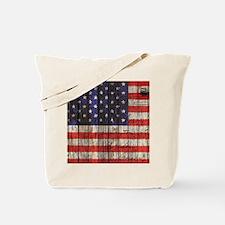 grunge USA flag Tote Bag