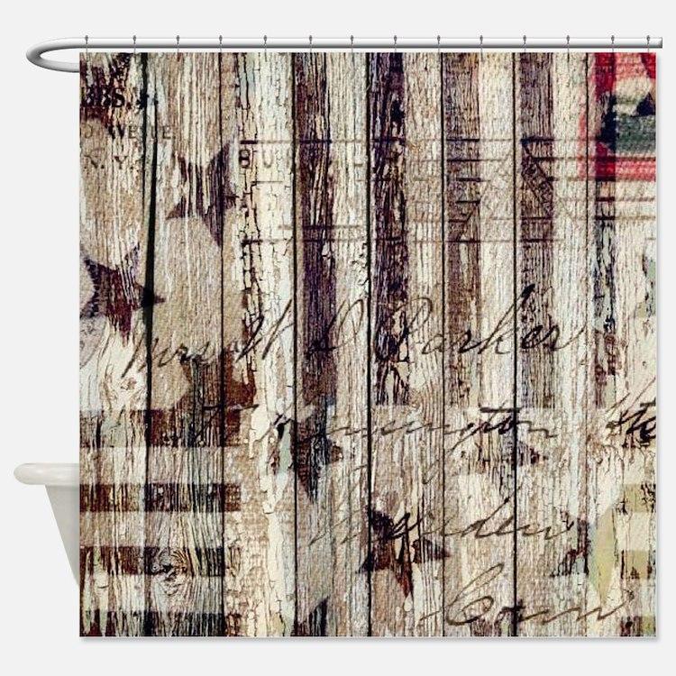 grunge USA flag Shower Curtain