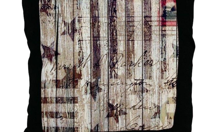 Grunge USA Flag Throw Pillow